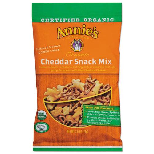 Organic Cheddar Snack Mix, 2.5 oz Bag, 12/Carton. Picture 1