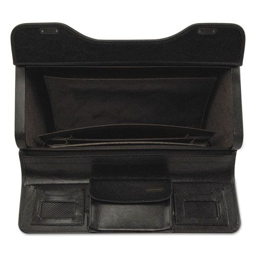 Catalog Case on Wheels, Leather, 19 x 9 x 15-1/2, Black. Picture 2