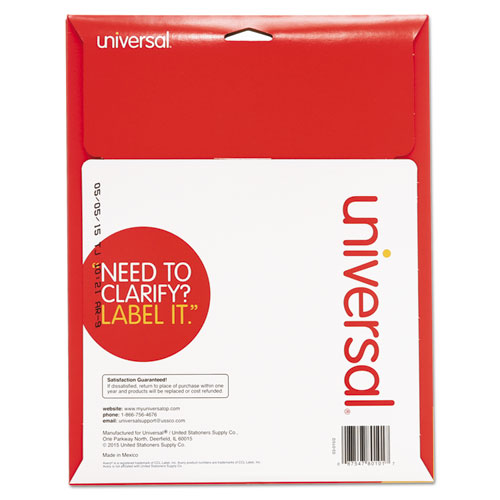 White Labels, Inkjet/Laser Printers, 1 x 2.63, White, 30/Sheet, 25 Sheets/Pack. Picture 2