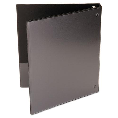 """Economy Round Ring View Binder, 3 Rings, 1"""" Capacity, 11 x 8.5, Black. Picture 7"""