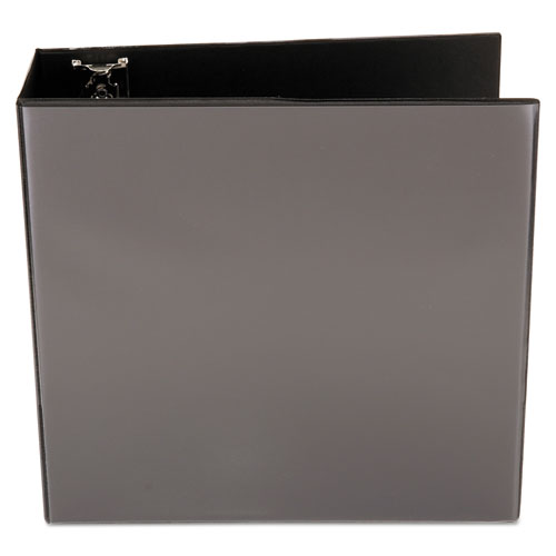 "Slant-Ring View Binder, 3 Rings, 4"" Capacity, 11 x 8.5, Black. Picture 3"