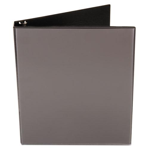 """Economy Round Ring View Binder, 3 Rings, 1"""" Capacity, 11 x 8.5, Black. Picture 5"""