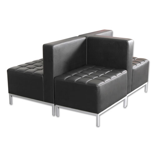 Alera QUB Series Powered Armless L Sectional, 26.38w x 26.38d x 30.5h, Black. Picture 10