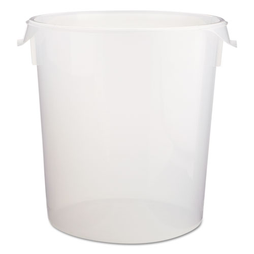 "Round Storage Containers, Clear, 22qt, 13 1/8""Dia x 14""H, Polypropylene,6/Crtn. The main picture."