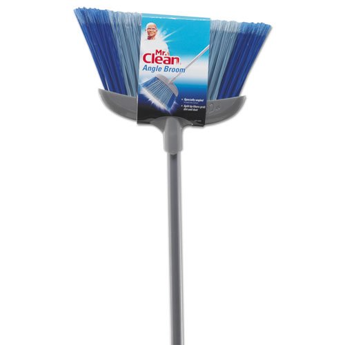 "Deluxe Angle Broom, 5 1/2"" Bristles, 55.37"", Metal Handle, White. Picture 2"