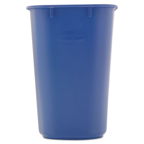 Small Deskside Recycling Container, Rectangular, Plastic, 13.63 qt, Blue. Picture 2