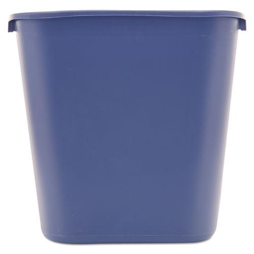 Medium Deskside Recycling Container, Rectangular, Plastic, 28.13 qt, Blue. Picture 3