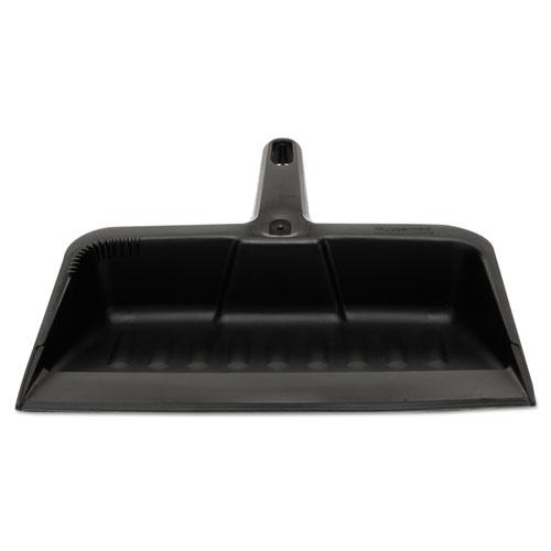 """Heavy-Duty Dustpan, 8 1/4"""" w, Polypropylene, Charcoal. Picture 1"""