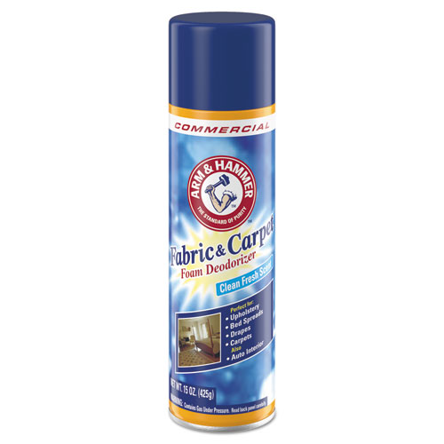 Fabric and Carpet Foam Deodorizer, Fresh Scent, 15 oz Aerosol, 8/Carton. Picture 1