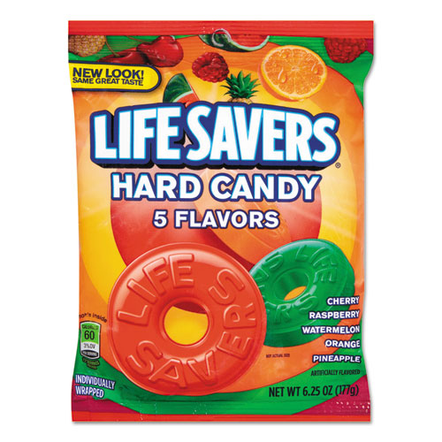 Hard Candy, Original Five Flavors, 6.25 oz Bag. Picture 1