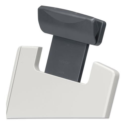 Flex Arm Weighted Base Copyholder, Plastic, 150 Sheet Capacity, Platinum. Picture 2