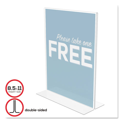 Classic Image Double-Sided Sign Holder, 8 1/2 x 11 Insert, Clear. Picture 1