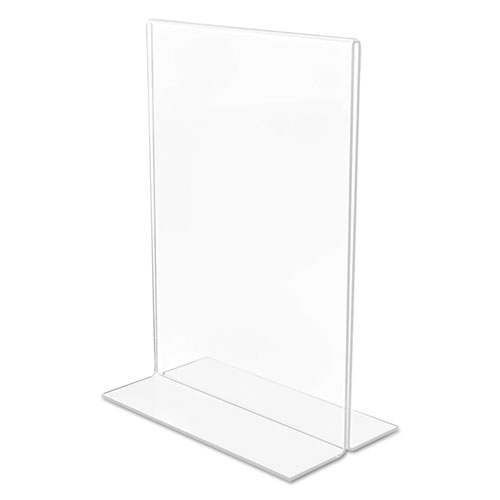 Classic Image Double-Sided Sign Holder, 5 x 7 Insert, Clear. Picture 6