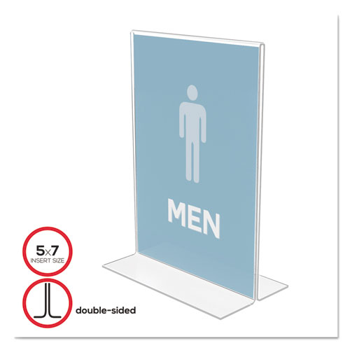 Classic Image Double-Sided Sign Holder, 5 x 7 Insert, Clear. Picture 1