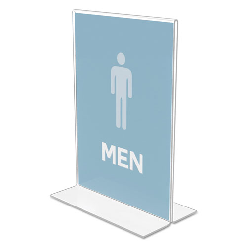 Classic Image Double-Sided Sign Holder, 5 x 7 Insert, Clear. Picture 2