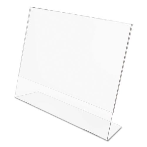 Classic Image Slanted Sign Holder, Landscaped, 11 x 8 1/2 Insert, Clear. Picture 6