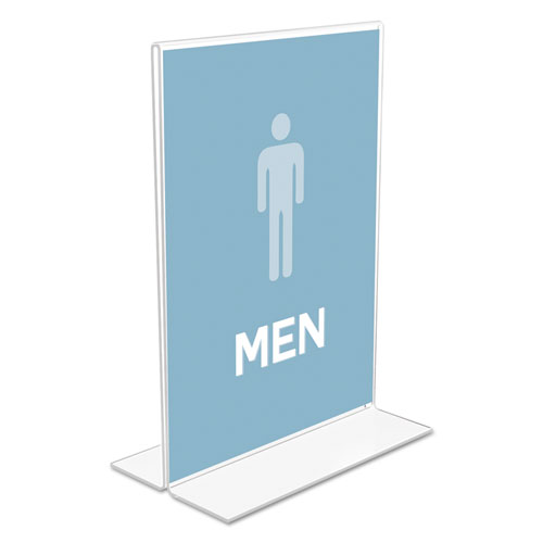 Classic Image Double-Sided Sign Holder, 5 x 7 Insert, Clear. Picture 3