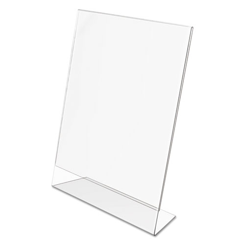Classic Image Slanted Sign Holder, Portrait, 8 1/2 x 11 Insert, Clear. Picture 6