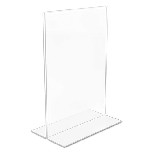 Classic Image Double-Sided Sign Holder, 5 x 7 Insert, Clear. Picture 7