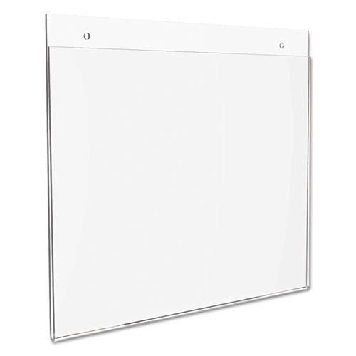 Classic Image Wall-Mount Sign Holder, Landscape, 11 x 8 1/2, Clear. Picture 7