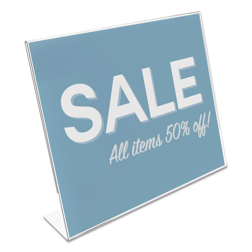 Classic Image Slanted Sign Holder, Landscaped, 11 x 8 1/2 Insert, Clear. Picture 3