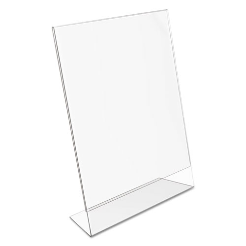 Classic Image Slanted Sign Holder, Portrait, 8 1/2 x 11 Insert, Clear. Picture 7