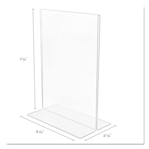 Classic Image Double-Sided Sign Holder, 5 x 7 Insert, Clear. Picture 5