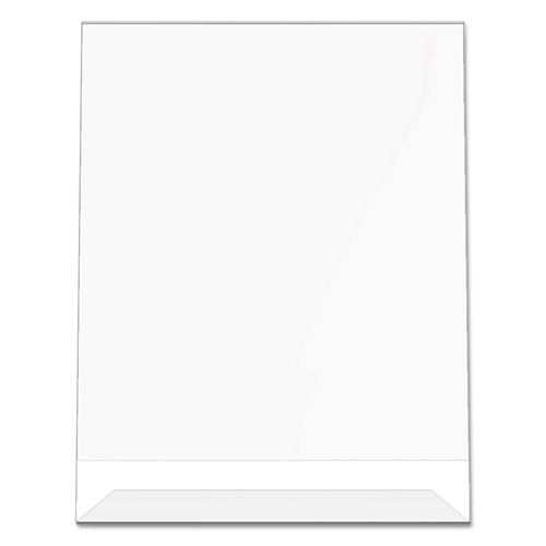 Classic Image Slanted Sign Holder, Portrait, 8 1/2 x 11 Insert, Clear. Picture 8