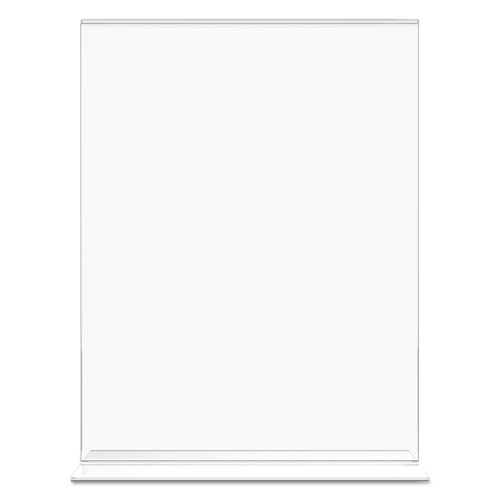 Classic Image Double-Sided Sign Holder, 8 1/2 x 11 Insert, Clear. Picture 8