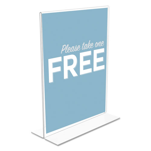 Classic Image Double-Sided Sign Holder, 8 1/2 x 11 Insert, Clear. Picture 3