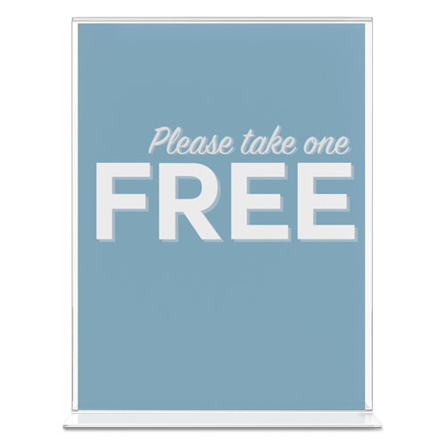 Classic Image Double-Sided Sign Holder, 8 1/2 x 11 Insert, Clear. Picture 4