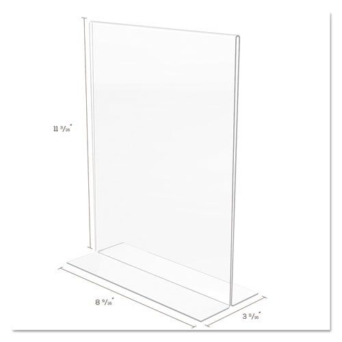 Classic Image Double-Sided Sign Holder, 8 1/2 x 11 Insert, Clear. Picture 5