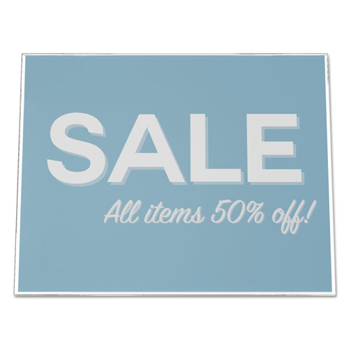 Classic Image Slanted Sign Holder, Landscaped, 11 x 8 1/2 Insert, Clear. Picture 4