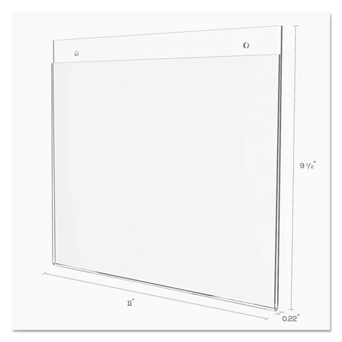 Classic Image Wall-Mount Sign Holder, Landscape, 11 x 8 1/2, Clear. Picture 5