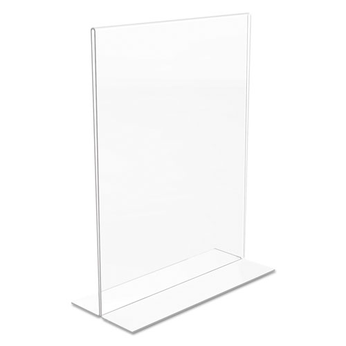 Classic Image Double-Sided Sign Holder, 8 1/2 x 11 Insert, Clear. Picture 7
