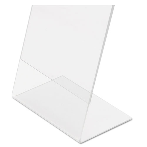 Classic Image Slanted Sign Holder, Portrait, 8 1/2 x 11 Insert, Clear. Picture 10