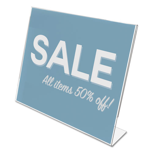 Classic Image Slanted Sign Holder, Landscaped, 11 x 8 1/2 Insert, Clear. Picture 2