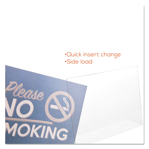Classic Image Slanted Sign Holder, Landscaped, 11 x 8 1/2 Insert, Clear. Picture 9