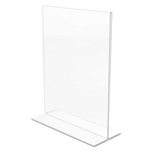 Classic Image Double-Sided Sign Holder, 8 1/2 x 11 Insert, Clear. Picture 6