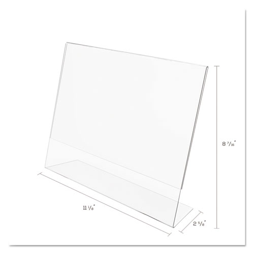 Classic Image Slanted Sign Holder, Landscaped, 11 x 8 1/2 Insert, Clear. Picture 5