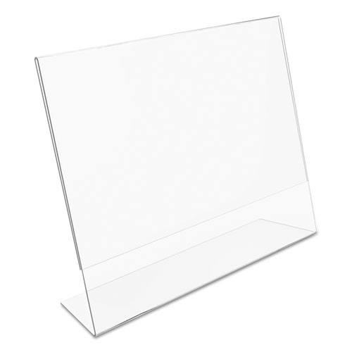 Classic Image Slanted Sign Holder, Landscaped, 11 x 8 1/2 Insert, Clear. Picture 7