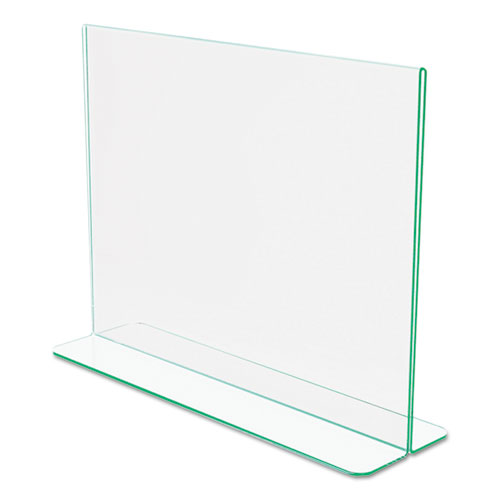 Superior Image Premium Green Edge Sign Holders, 11 x 8 1/2 Insert, Clear/Green. Picture 6