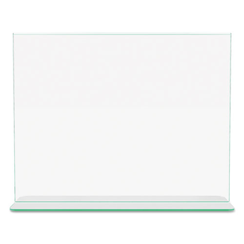 Superior Image Premium Green Edge Sign Holders, 11 x 8 1/2 Insert, Clear/Green. Picture 8
