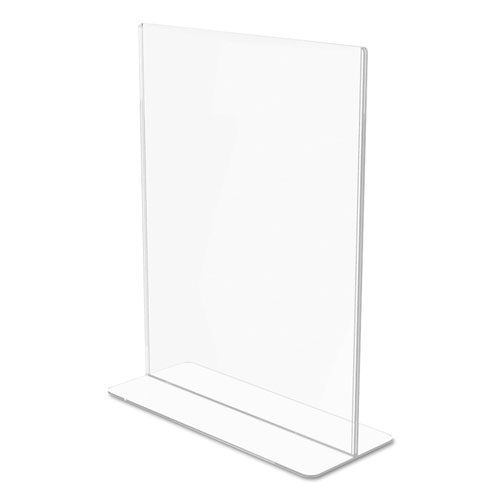 Superior Image Double Sided Sign Holder, 8 1/2 x 11 Insert, Clear. Picture 6