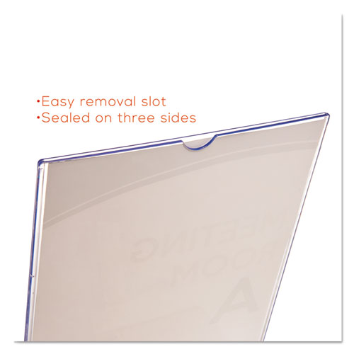 Superior Image Double Sided Sign Holder, 8 1/2 x 11 Insert, Clear. Picture 10