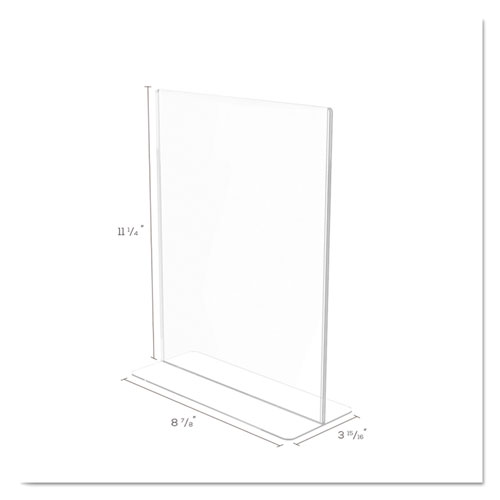 Superior Image Double Sided Sign Holder, 8 1/2 x 11 Insert, Clear. Picture 5