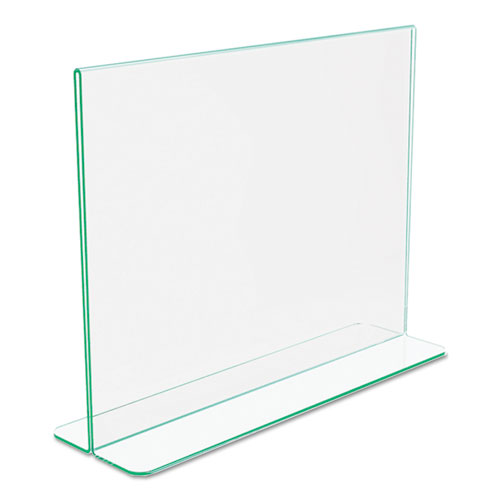 Superior Image Premium Green Edge Sign Holders, 11 x 8 1/2 Insert, Clear/Green. Picture 7
