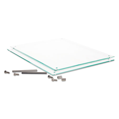 Superior Image Beveled Edge Sign Holder, Letter Insert, Clear/Green-Tinted Edges. Picture 9