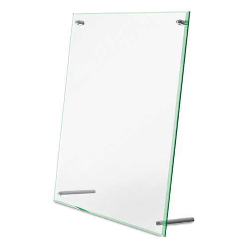 Superior Image Beveled Edge Sign Holder, Letter Insert, Clear/Green-Tinted Edges. Picture 6
