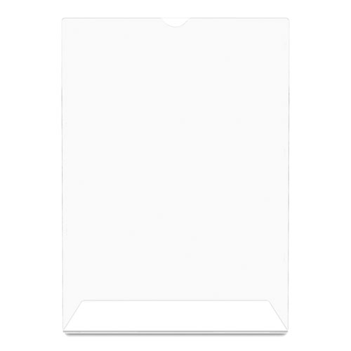 Superior Image Slanted Sign Holder, Portrait, 8 1/2 x 11 Insert, Clear. Picture 8